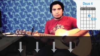 Wonderwall - Oasis Guitarra como tocar (How to play) Aprende