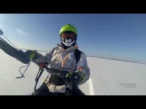 Snowkiting Lake Ilmen frost 20 degrees