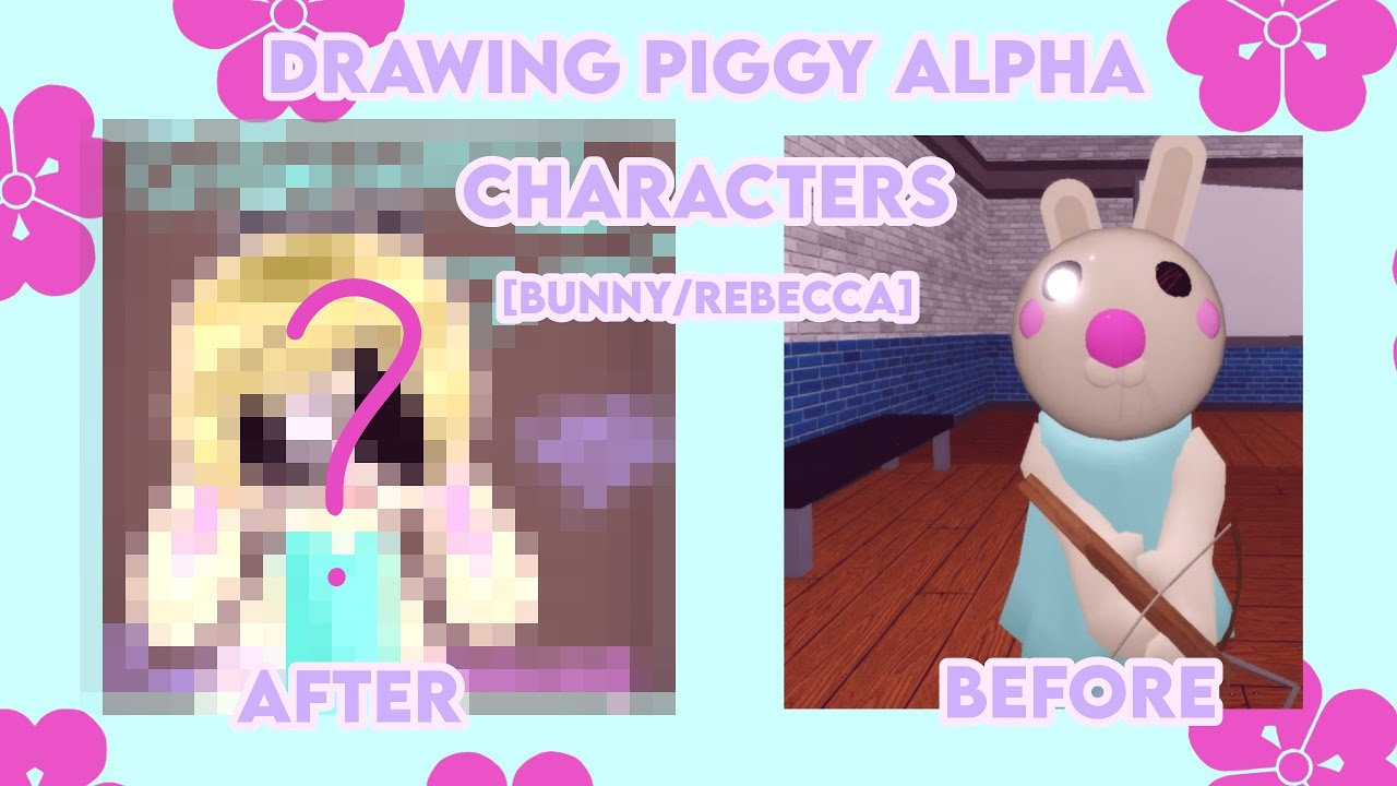 Rebecca Rabbit Roblox Drawing Piggy Alpha Roblox Characters 2 Bunny Rebecca Youtube