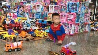 Baby doing shopping Supermarket