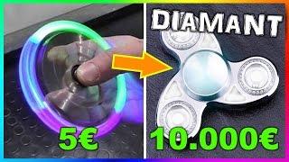5€ FIDGET SPINNER VS 10.000€ FIDGET SPINNER!