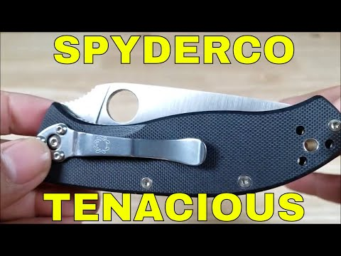 THE BEST VALUE SPYDERCO KNIFE TENACIOUS KNIFE REVIEW