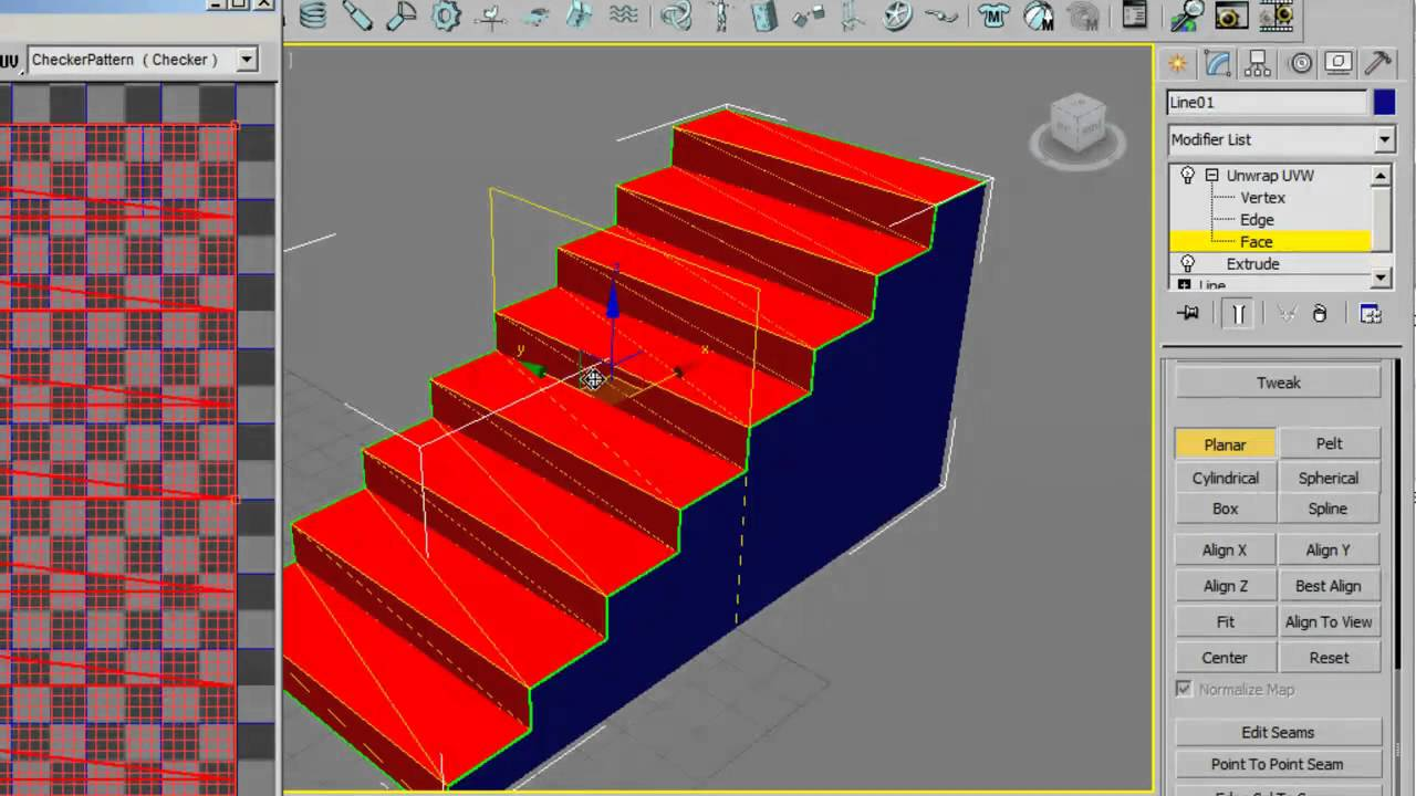 Textura escalera 1 3d studio max y photoshop youtube for Escaleras 3d max