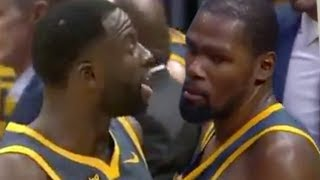 PISSED OFF Kevin Durant & Draymond Green SEPERATED After HEATED FIGHT in Warriors Huddle