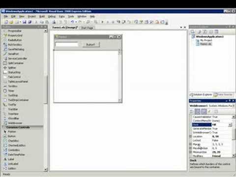 visual basic web browser