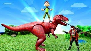 Видео для детей. Приключения игрушек Бен 10: Динозавры в юрском периоде!