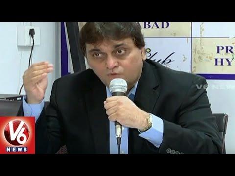Hyderabad Public School Society Members Holds Press Meet Over HPS Lands | V6 News