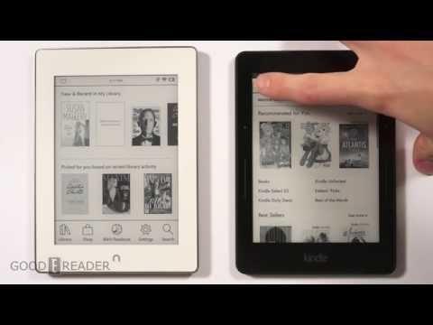 Nook Glowlight Plus vs Amazon Kindle Voyage