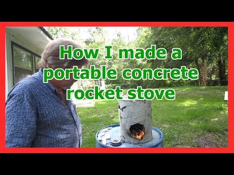 How I made a portable concrete rocket stove design