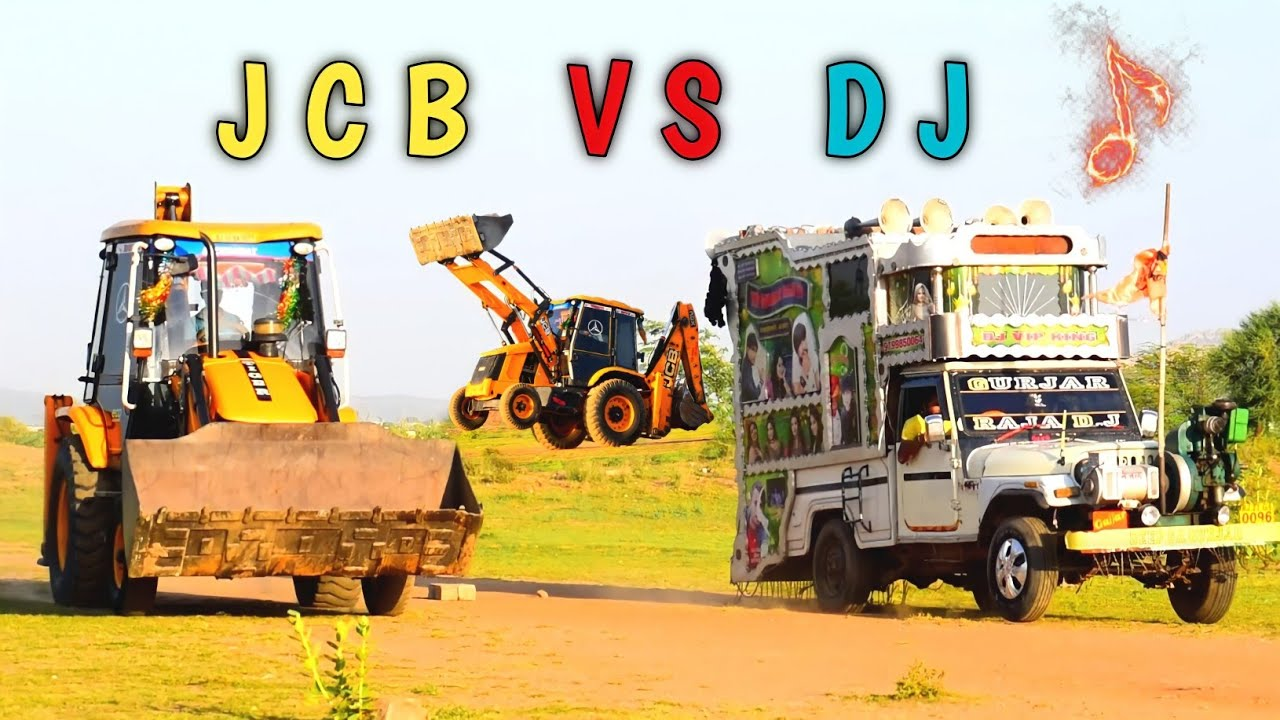 JCB VS DJ Pickup Compilation !! Tip Tip Barsa Pani !! Hindi Compilation Song !! Jcb Stunt
