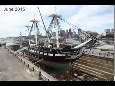 Time-lapse Video of USS Constitution in Dry Dock