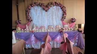 Украшение свадебного зала в Минске, оформление зала на свадьбу