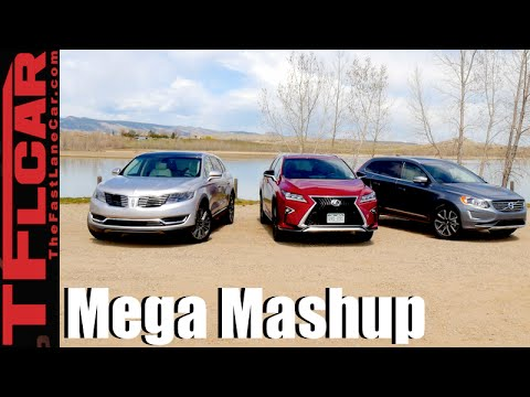 2016 Lexus RX 350 vs Lincoln MKX vs Volvo XC60 T6 Drag Race & Mega Mashup Review