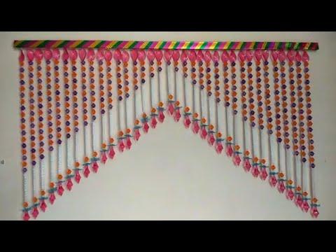 DIY - BEAUTIFUL DOOR TORAN MAKING FROM CRISTAL MOTI  || AWESOME DOOR HANGING TORAN DIY