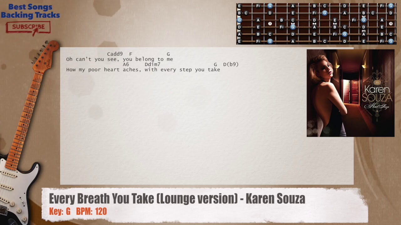 Every Breath You Take Lounge Version Karen Souza Guitar Backing