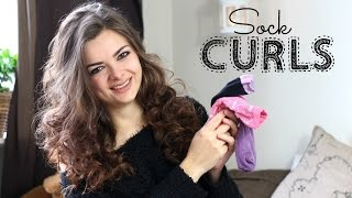 How To Curl Your Hair With Socks?!