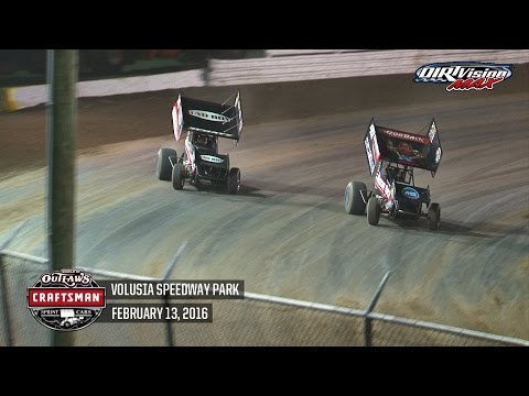 Highlights: World of Outlaws Craftsman Sprint Cars Volusia Speedway Park February 13th, 2016
