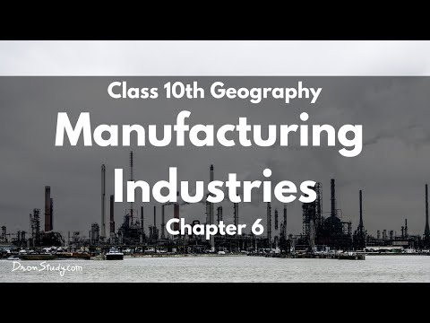 Class 10 Geo Manufacturing Industries