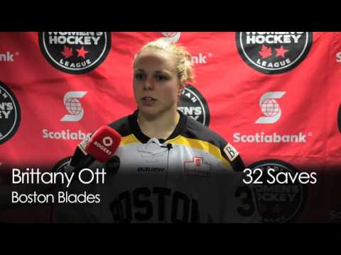 CWHL Clarkson Cup - DAY 1 - Interview with Boston Blade's Brittany Ott