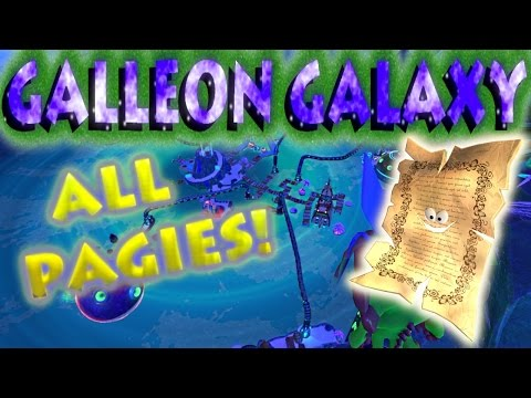 Yooka-Laylee - Galleon Galaxy Pagies Locations
