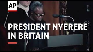 President Nyerere In Britain - 1975