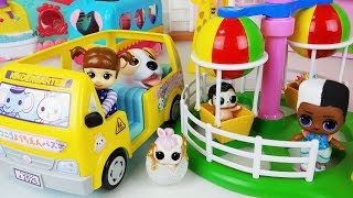 Baby doll car and Amusement park toys house play - ToyMong TV 토이몽