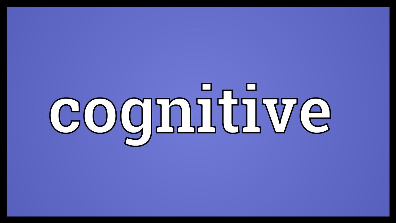 cognitive meaning youtube