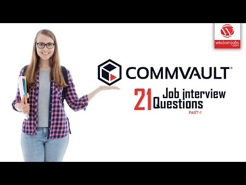 Commvault Interview Questions And Answers 2019 Part-1 | Commvault | Wisdom IT Services