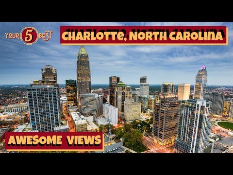 Charlotte, North Carolina - BEST Views 4k Drone Tour Video