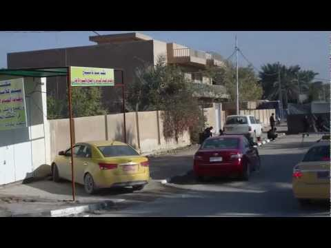Iraq - Driving From Najaf to Kufe with the Bus (HD)