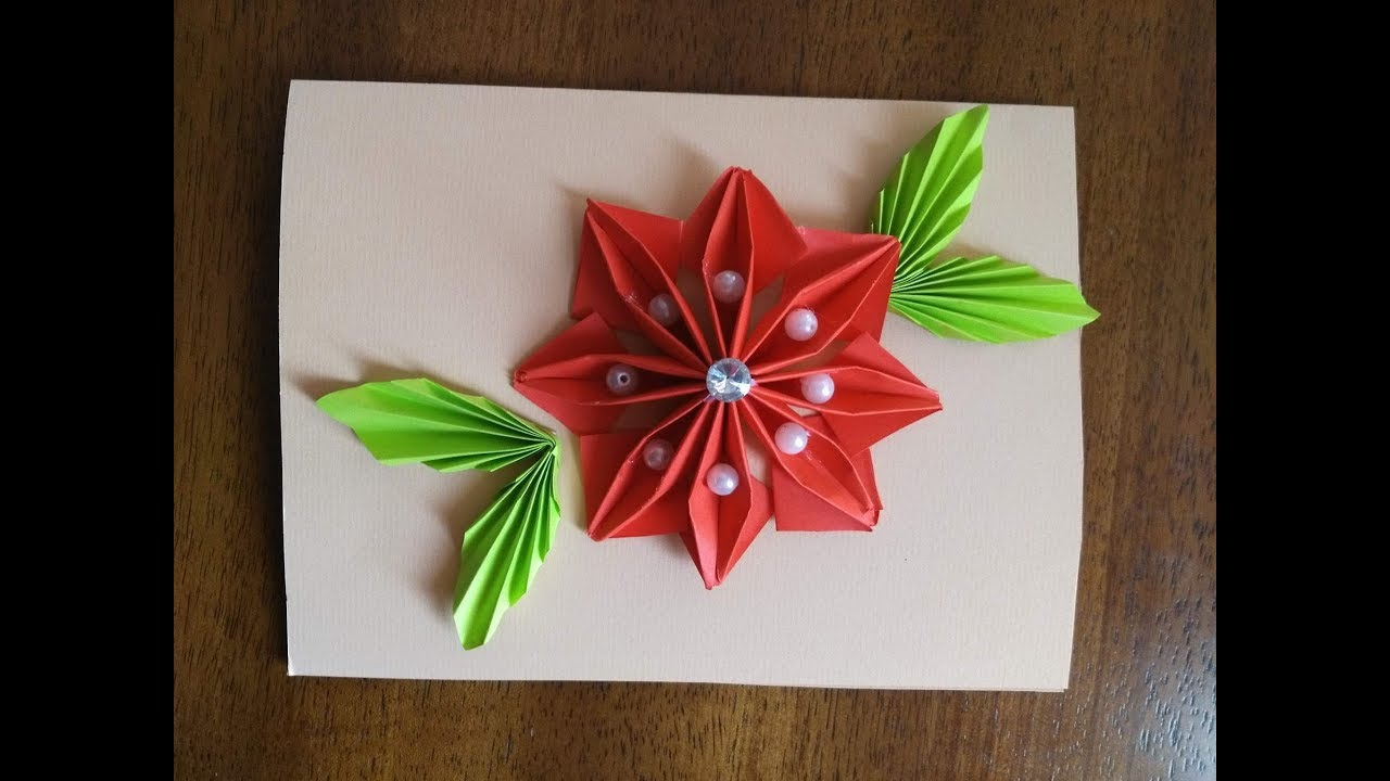 Diy greeting cards how to make an origami flower greeting card diy greeting cards how to make an origami flower greeting card tutorial mightylinksfo