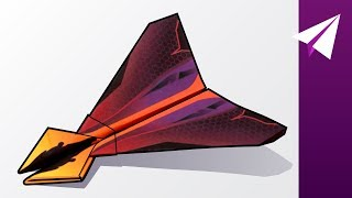 Aggressive Paper Airplane with Two Spikes! — How to Make Stinger