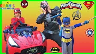 TOP COSTUMES FOR KIDS SUPERHEROES Power Wheels Spiderman Batman Superman Iron Man Ryan ToysReview