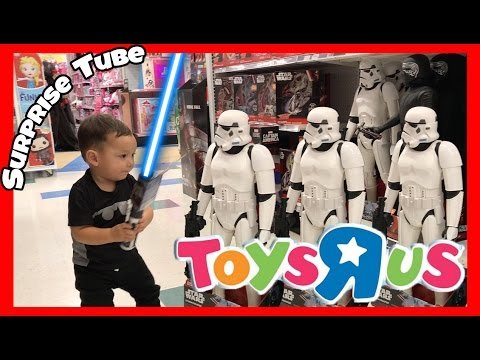 1 Year Old Plays Star Wars With Lightsaber At Toys R Us