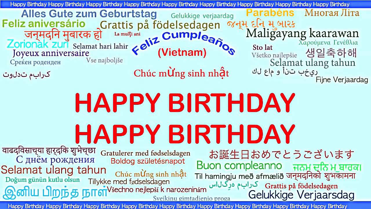 Happy Birthday In Different Languages Youtube