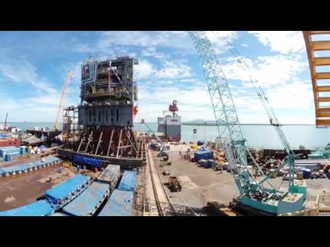 Offshore Platform Fabrication in Vietnam [360° Video Timelapse]