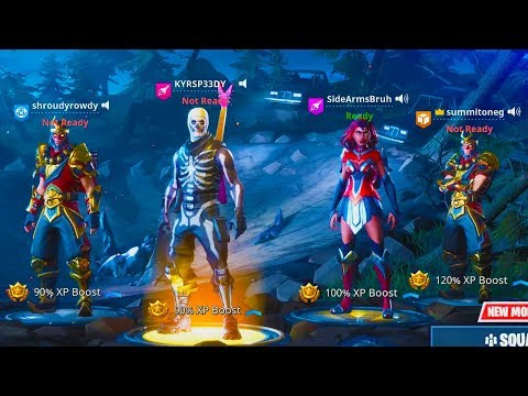Side and Speedy VS Summit and Shroud! - FRIDAY FORTNITE Tournament!