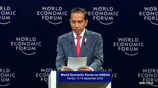 Menghadiri World Economic Forum on ASEAN, Hanoi, 12 September 2018