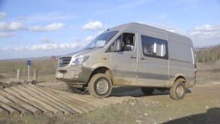 The first test of the 4x4 Sprinter Van, off-road
