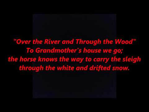 Over the River and Through the Wood CHRISTMAS LYRICS WORDS BEST TOP SING ALONG