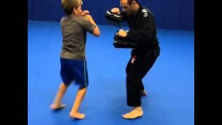 Sticking combo. South Jersey Brazilian Jiu Jitsu teen class