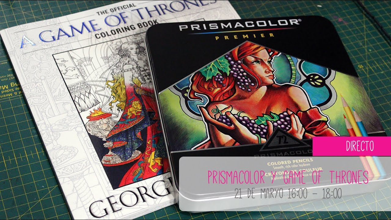 Directo CanalFimiki! Probamos los Prismacolors pintando el libro de ...