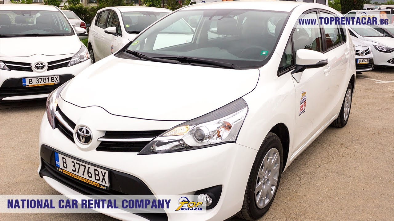 Toyota Corolla Verso Rental Car From Top Rent A Bulgaria