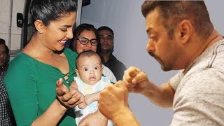 (VIDEO) Salman Khan & Priyanka Chopra's PLAYS With Nephew Ahil   Bollywood News 05th July