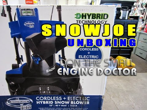 Unboxing & Assembly Of SNOWJOE 18` Hybrid SnowBlower - Electric & Battery