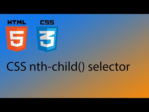 HTML5 & CSS3 Tutorial 25 - CSS Nth-child Selector