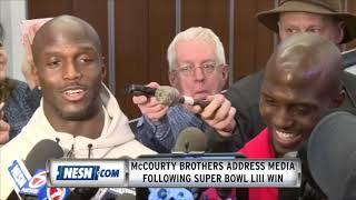 Devin and Jason McCourty Address Media Following Super Bowl 53 Win