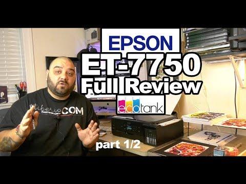 Epson Expression Premium EcoTank  ET-7750 Wide Format - Full REVIEW - part1/2