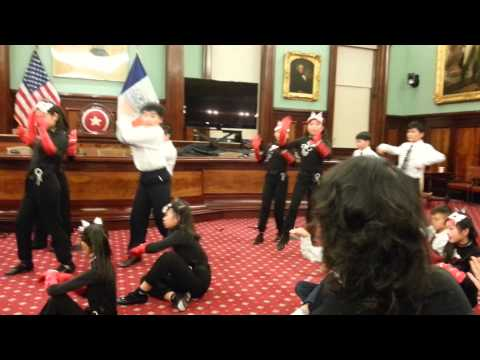 Brooklyn PS 105K perform at City Hall Council Chamber Lunar New Year Celebration