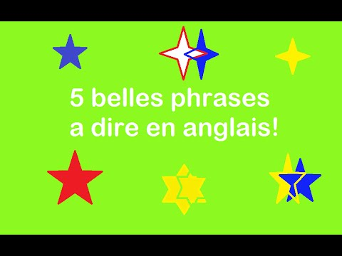 5 belles phrases a dire en anglais lemondedutag youtube. Black Bedroom Furniture Sets. Home Design Ideas